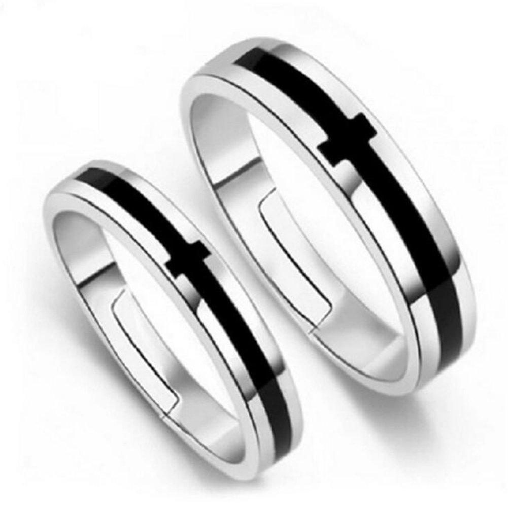 Impression 2Pcs Anneaux modèles de couple anneau de diamant de mode anneau de cristal Girl Accessoires de la bijouterie jour de la Saint Valentin Cadeaux de mariage anneau ouvert YXYP YXFR080