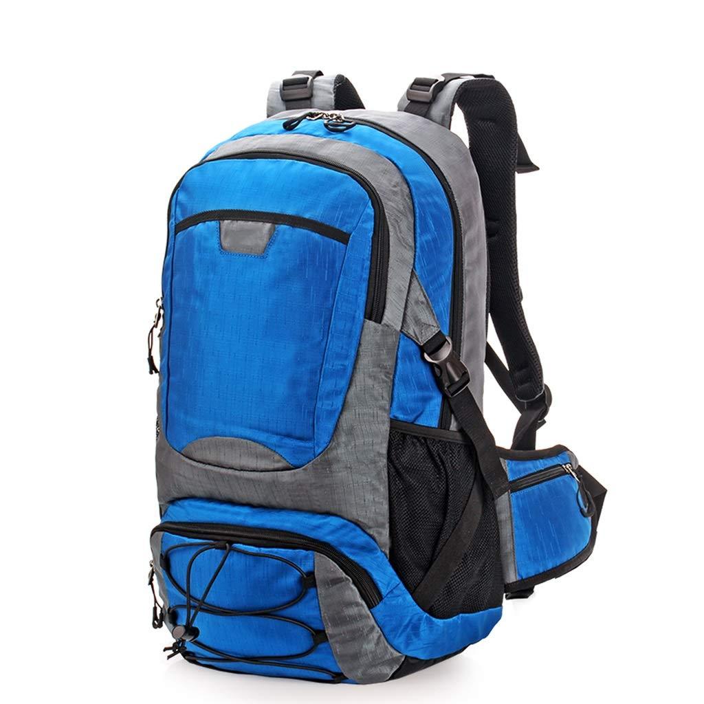 アルパインパック 登山バッグショルダーバッグ旅行バッグバックパックレジャー屋外ファッション大容量のバックパック女性のショルダーバッグ登山バッグ40L大容量登山バッグ (Color : Blue, Size : 52*32*20cm) B07G23CT6M Blue 52*32*20cm