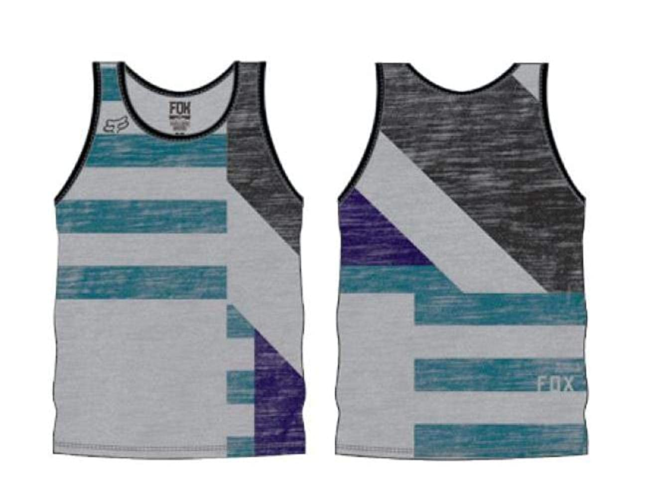 Fox Racing Youth Boys Addle Tank Shirt Heather Grey Large 09997-040-L