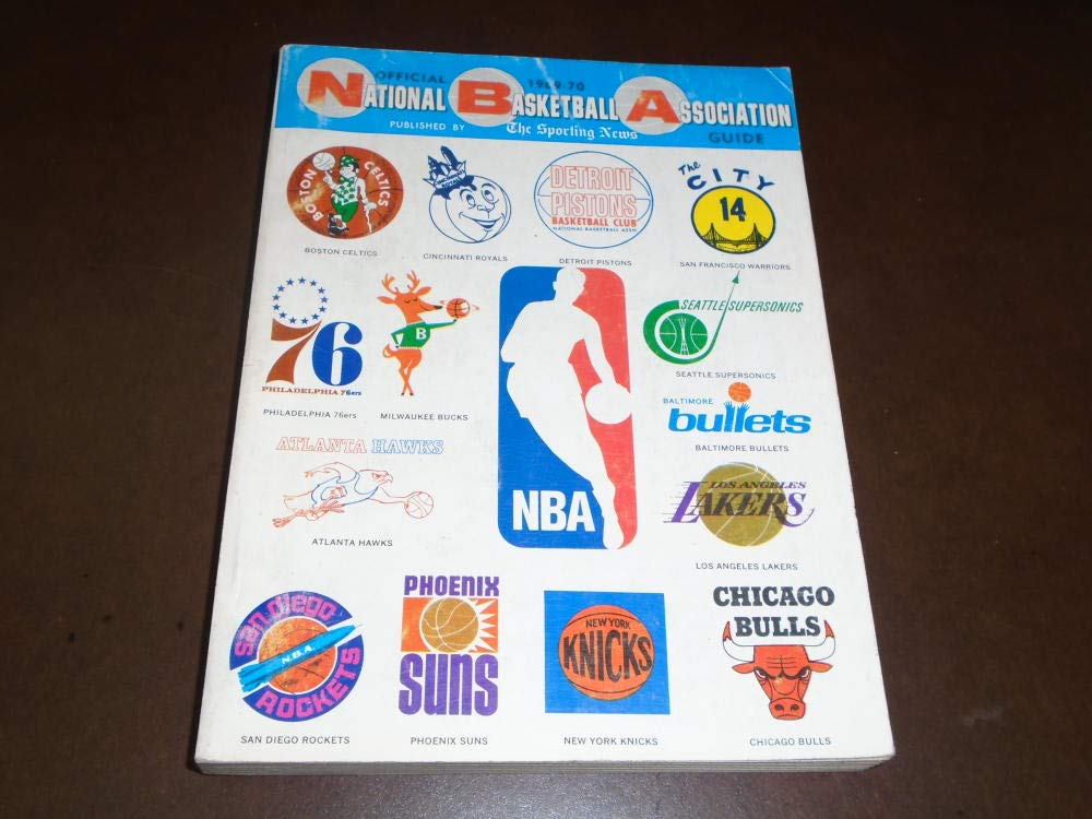 1969 70 TSN THE SPORTING NEWS NBA BASKETBALL LEAGUE GUIDE TEAM LOGOS COVER