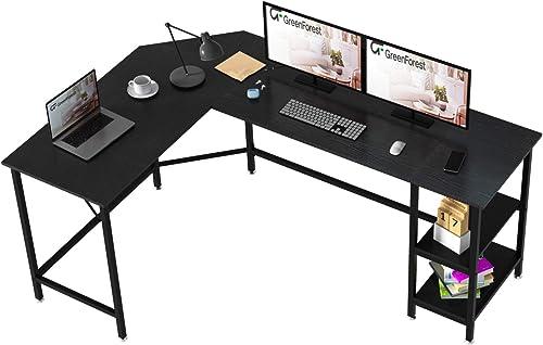GreenForest L Shaped Desk 66×47 inch Large Size Corner Computer Desk