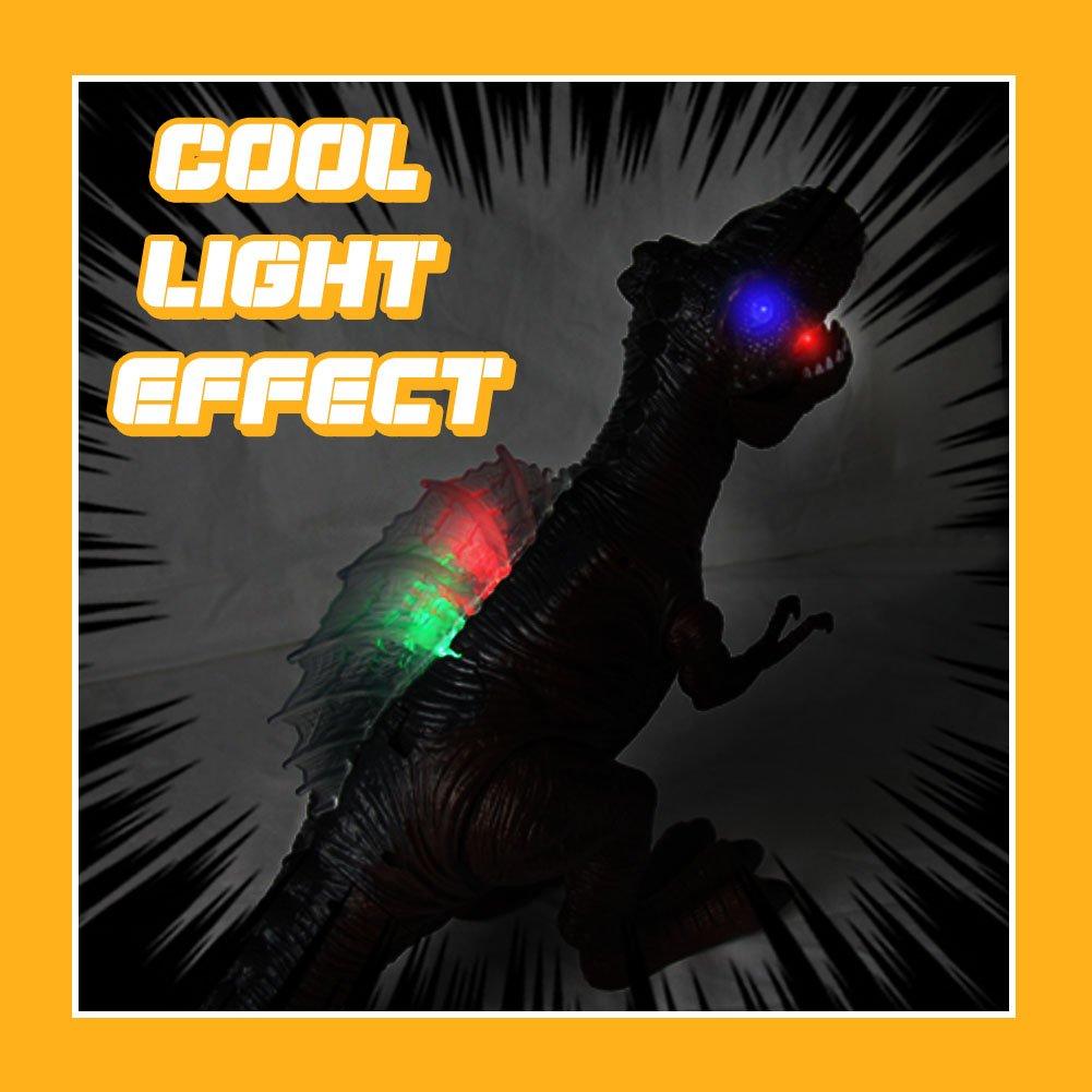 AX Dinosaurier Ei Spielzeug Tyrannosaurus Rex Walking Dinosaurier Spielzeug Brüllender Dinosaurier mit Licht und Sound für Kinder über 3Jahren Beste Geschenk für Kinder