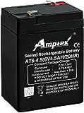 Amptek 6V,4.5AH Sealed Lead - Acid Battery Pack of 1