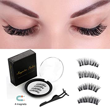d450f30fc37 Magnetic Eyelashes False 3D Natural Appearance 4 Magnets Ultra-thin Reusable  Magnet fake Eyelashes (