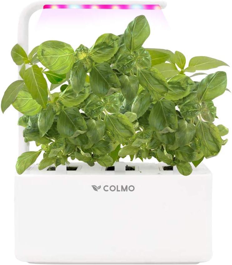 COLMO Jardín Interior Smart Garden Kit con Spectrum LED hidropónico Auto-riego en el hogar Smart Herbs & Veggies Planter