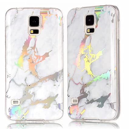 Amazon.com: Ivy Galaxy S5 funda de mármol con color ...