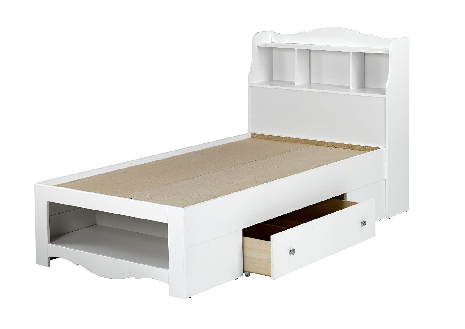 Be bed frames with headboard storage - Amazon Com Dixie Twin Size Headboard 313803 From Nexera White Kitchen Dining