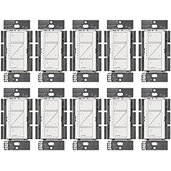 Lutron PD-10NXD-WH Caseta Pro In Wall Dimmer 250W LED (10 Pack