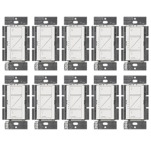 (Lutron PD-10NXD-WH Caseta Pro In Wall Dimmer 250W LED (10 Pack))