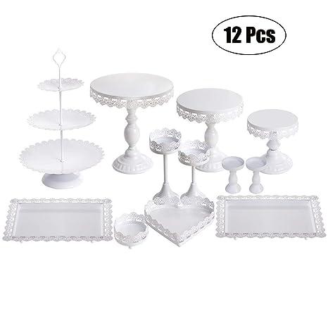 Amazon.com: Juego de 12 piezas de soporte para tartas y ...