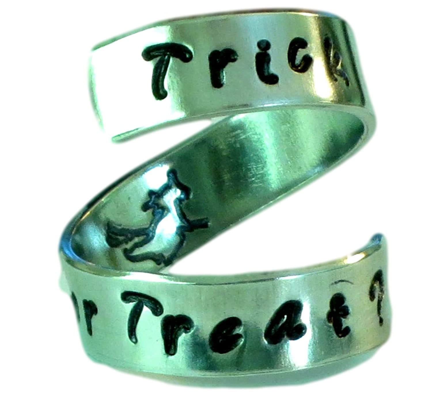 Halloween Trick or Treat Flying Witch Ring - Adjustable -
