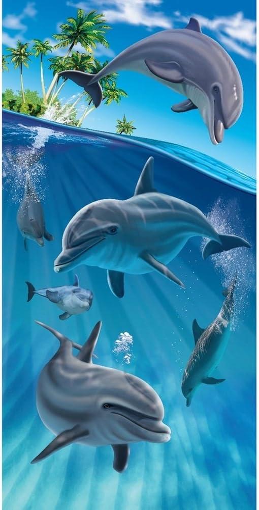 "30x60/"" Clownfish Premium Velour Beach Towel"