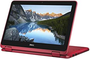"2018 Flagship Dell Inspiron 11.6"" Business 2 in 1 HD Touchscreen Laptop/Tablet - AMD Dual-Core A9-9420e 4GB DDR4 500GB HDD AMD Radeon R5 MaxxAudio Bluetooth 802.11bgn HDMI HD Webcam USB 3.1 Win 10-Red"