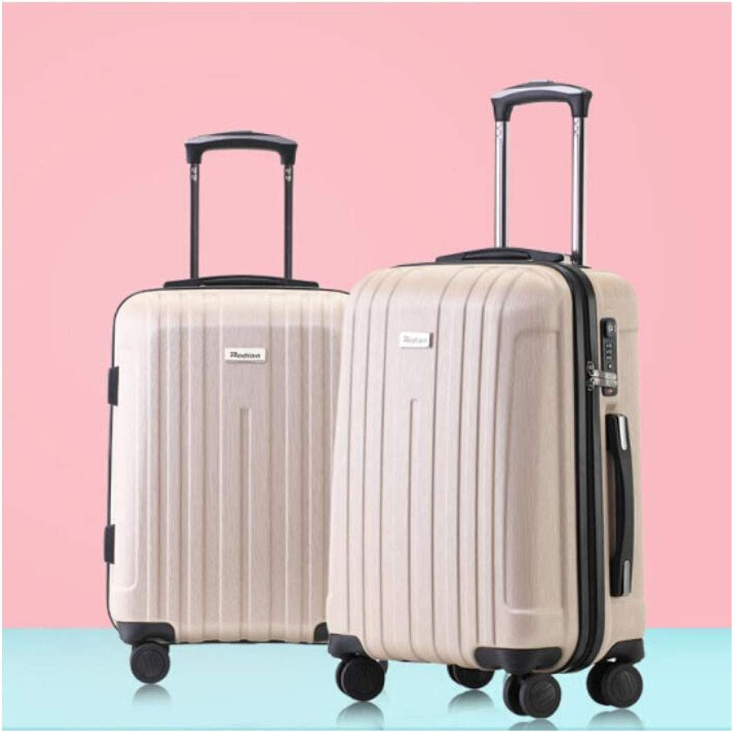 Pink Suitcase for Durable and Stylish Lightweight Hard Shell Suitcase Size 352255 cm Color : Gold, Size : 161026 inch