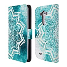 Official Nika Martinez Mint Sea Flower Mandala Leather Book Wallet Case Cover For LG Nexus 4 E960