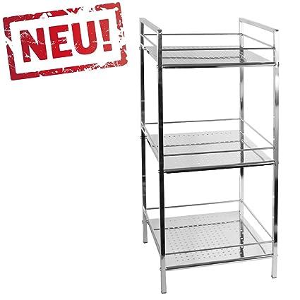modernes Badregal Küchenregal Badezimmer Standregal mit 3 Ablagen ...