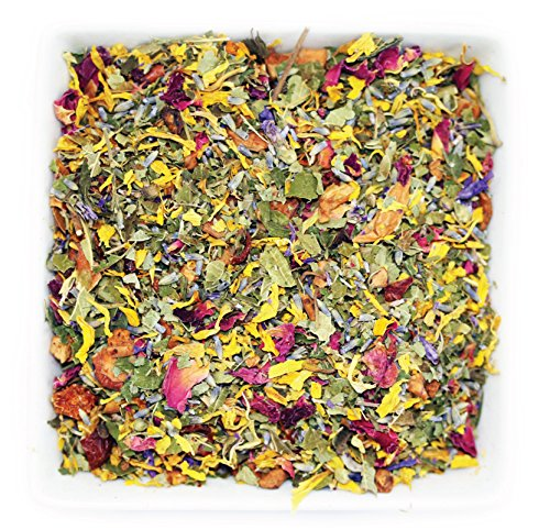 Tealyra - Jardin à La Française - Lavender - Apple - Peppermint - Herbal Fruity Loose Leaf Tea - Wellness Rose Aromatherapy - Calming Herbal Remedy - Caffeine-Free - 112g (4-ounce)