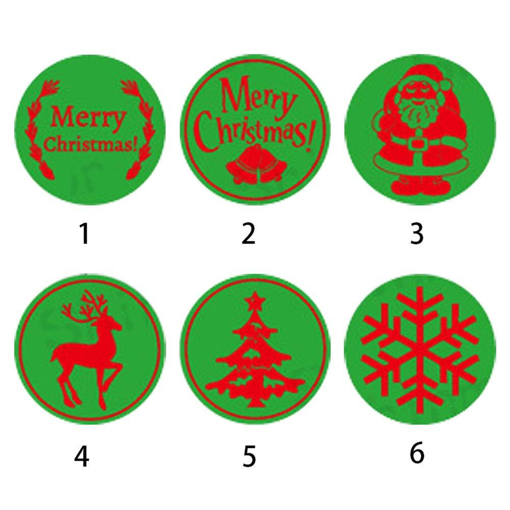 Amyove Parti per Sigillo di Ricambio Timbro Personalizzabile Vintage Sigillo Ceralacca Personalizzato Natale per DIY Scrapbooking - Modello 1