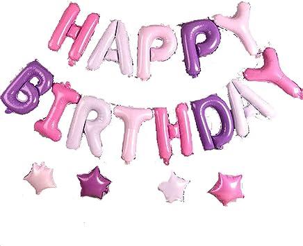 Siyushop Feliz Cumpleaños Globos Inflables Banner Papel De Aluminio 3D Cartas Banderas Feliz Cumpleaños Globo Foil Paquete Feliz Cumpleaños Carta Decoración del Partido (Color : H2 Sets) : Amazon.es: Juguetes y juegos