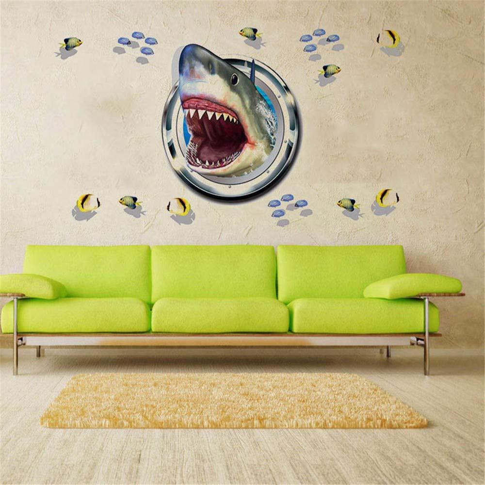 Amazon.com: Dtcrzj Ferocious Shark - Adhesivo decorativo 3D ...