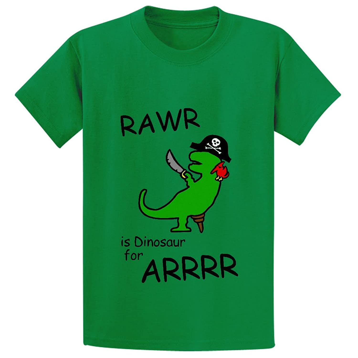 Unicorn Rawr Is Dinosaur For Arrr Pirate Dinosaur Unisex Crew Neck Tees