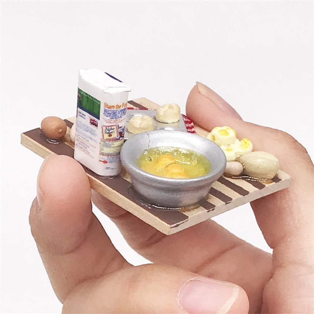 Dollhouse Kitchen Scene Dolls Kimbird Bread Manufacturing Simulation Tools Doll House Miniature Home Furniture Craft 1:12 Dollhouse Miniature DIY Furniture Accessories