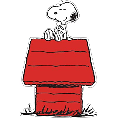 Eureka Peanuts 5-Inch Paper Cut-Outs, Snoopy on Dog House, Package of 36 (841227) : Childrens Decorative Stickers : Office Products
