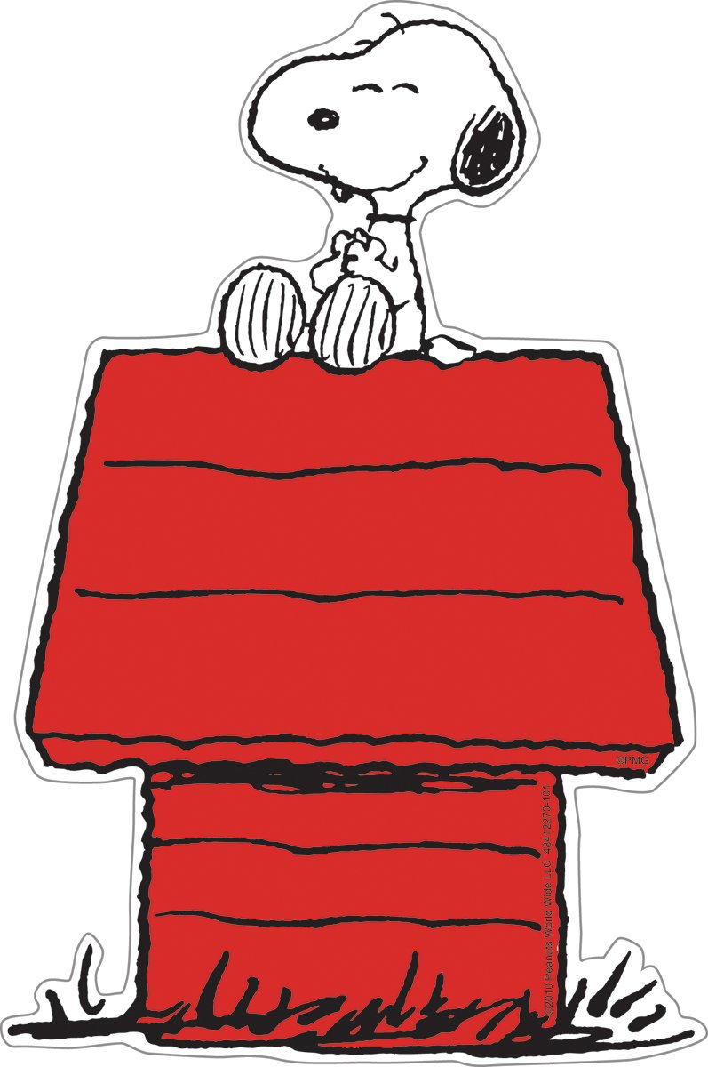 Paper Magic 841227 Eureka Peanuts 5-Inch Paper Cut-Outs, Snoopy on Dog House, Package of 36 Inc. Paper Magic Group