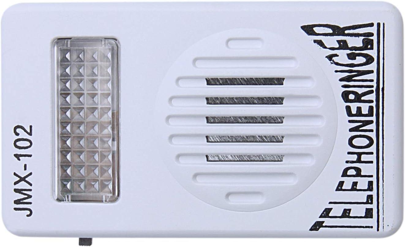 SODIAL RJ11 Adaptador Anillo de telefono ruidoso Amplificador de Flash timbre para Telefono fijo