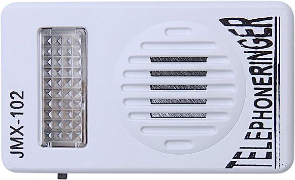 SODIAL RJ11 Adaptador Anillo de telefono ruidoso Amplificador de Flash timbre para Telefono fijo: Amazon.es: Electrónica
