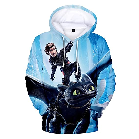 How to Train Your Dragon 3D Print Men Hoodie Sweater Sweatshirt Jacket Pullover