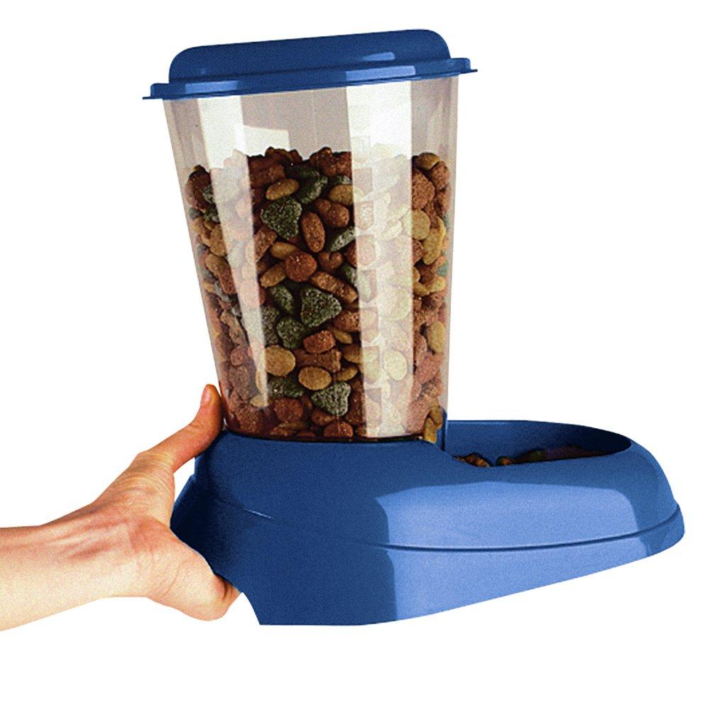 Feplast 71970099W2 Dispensador de Comida para Perros y Gatos Zenith Comedero para Animales, Gran Depósito de Plástico Trasparente, Base Antideslizante, ...