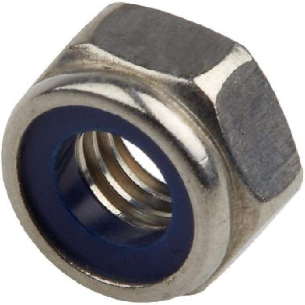 50 x Nylon Insert M6 /Écrous de Verrouillage en Acier /à Standard Pitch Brillante Zinc Plaqu/é
