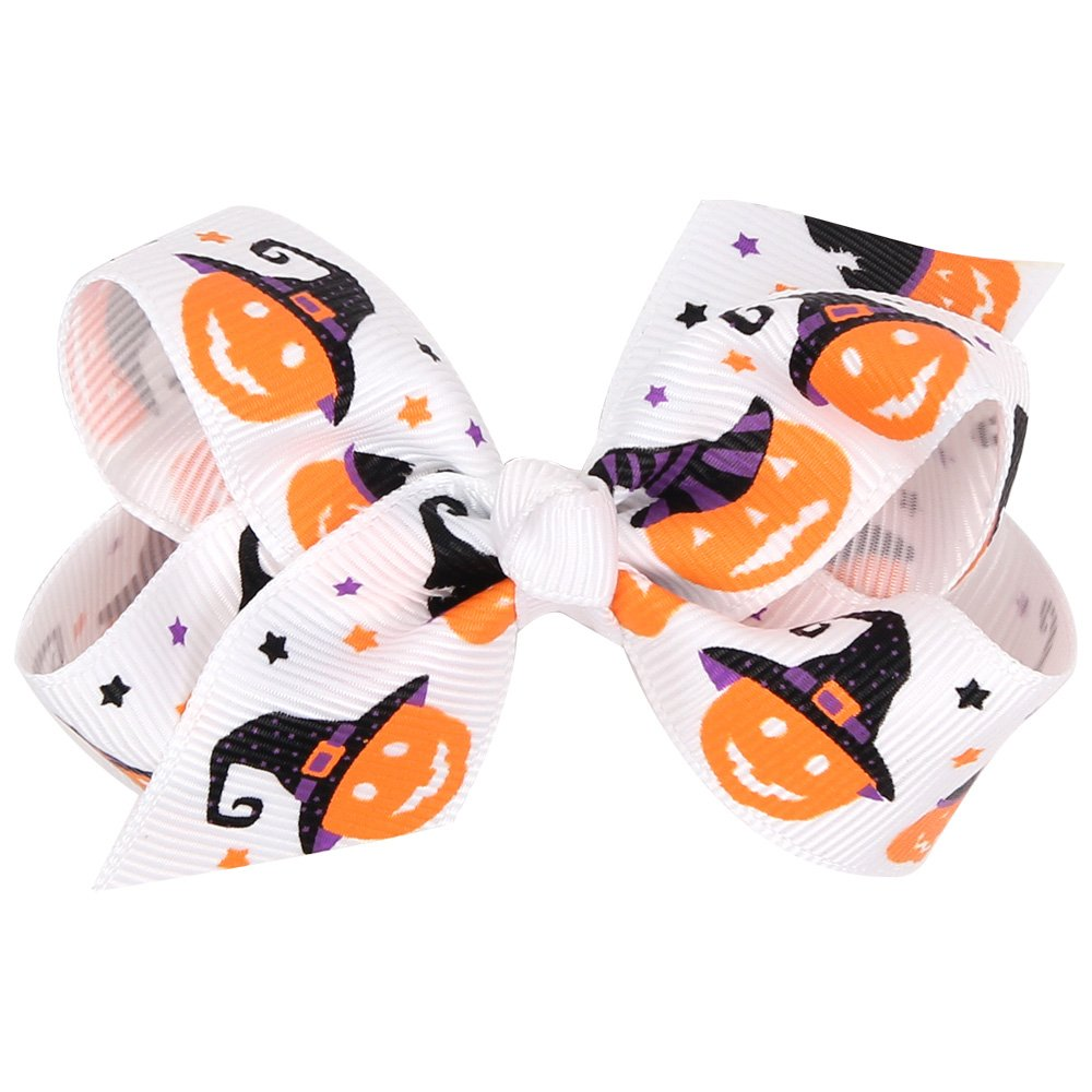 ZOONAI Baby Girl Bowknot Halloween Hair Clip Infant Toddler Hairpin Headdress Hair Accessories