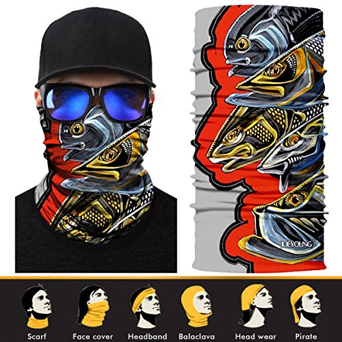 Guy Skateboarding - JOEYOUNG 3D Headwear, Magic Scarf, Neck Gaiter, Face Mask, Bandana, Balaclava, Headband for Cycling, Motorcycling, Running, Skateboarding, Moisture Wicking UV Protection, Great for Men & Women