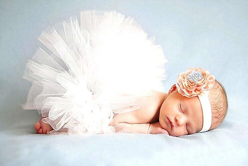 Yonger Newborn Girls Photo Photography Prop Tutu Skirt Headband Outfits