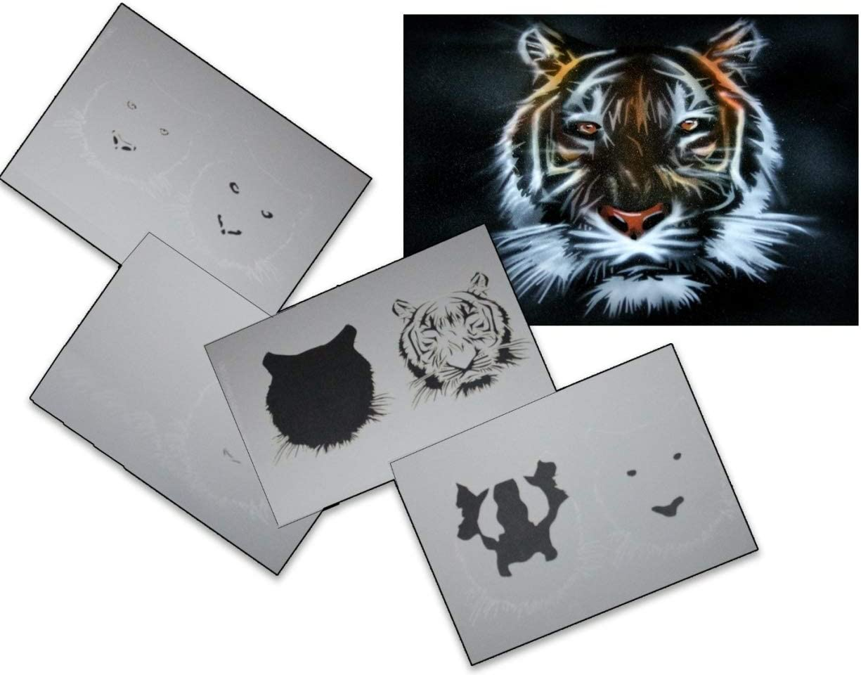 Step by Step Airbrush Stencil AS-030 ~ Stencils ~ UMR-Design