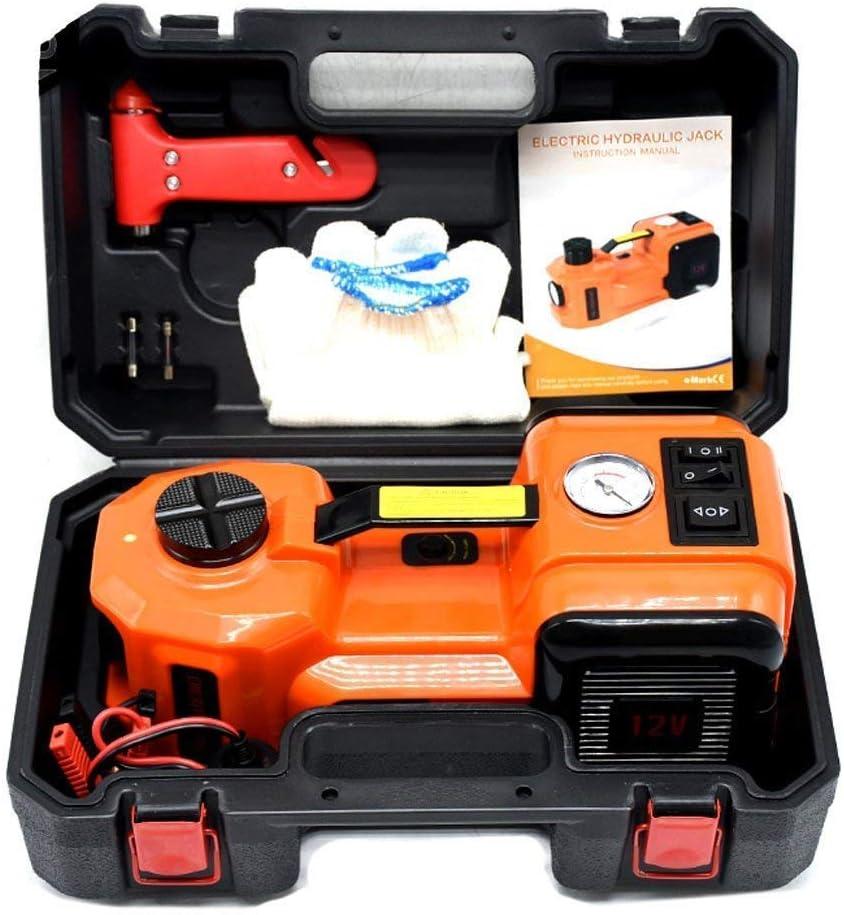 J-Conel 3,5t pompa elettrica idraulica Floor jack Gonfiatore e torcia a LED 3/in 1/set di strumenti per la riparazione di auto