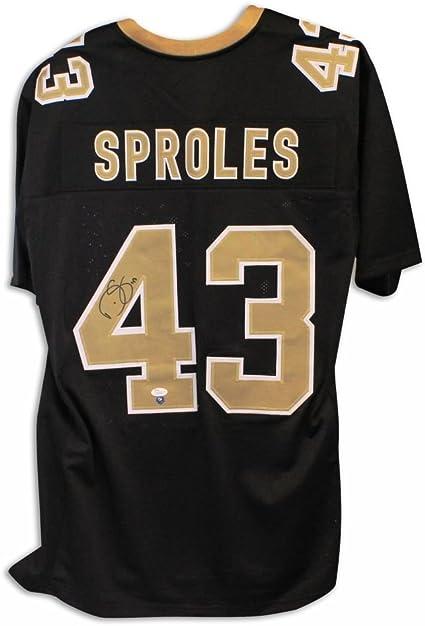 Darren Sproles New Orleans Saints Autographed Black Jersey - 100 ...
