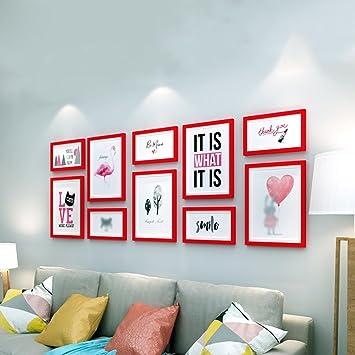 G-Y Photo Mur En Bois Cadre Photo Mur Salon Chambre Blanc 10 ...
