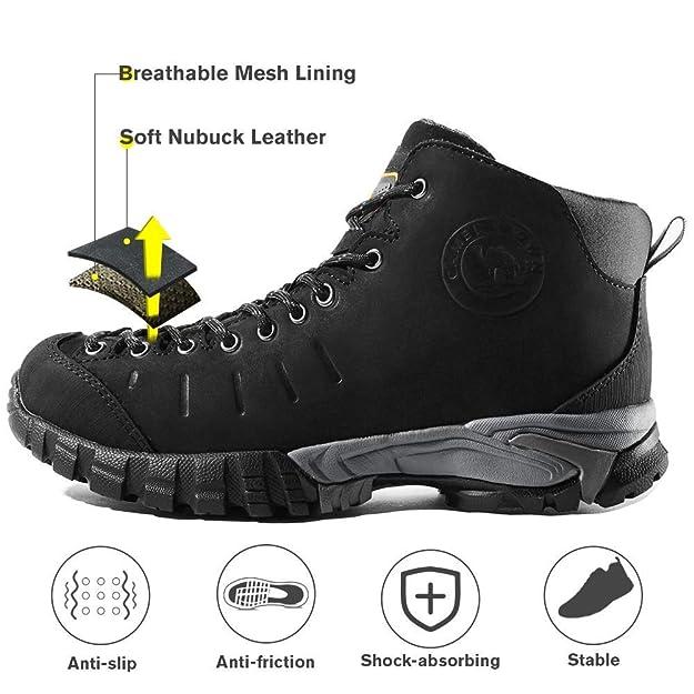 CAMEL CROWN Mid Rise Botas de Senderismo para Mujer Impermeables Zapatillas de Trekking Botas de Montaña Antideslizantes AL Aire Libre Zapatillas Trainer ...
