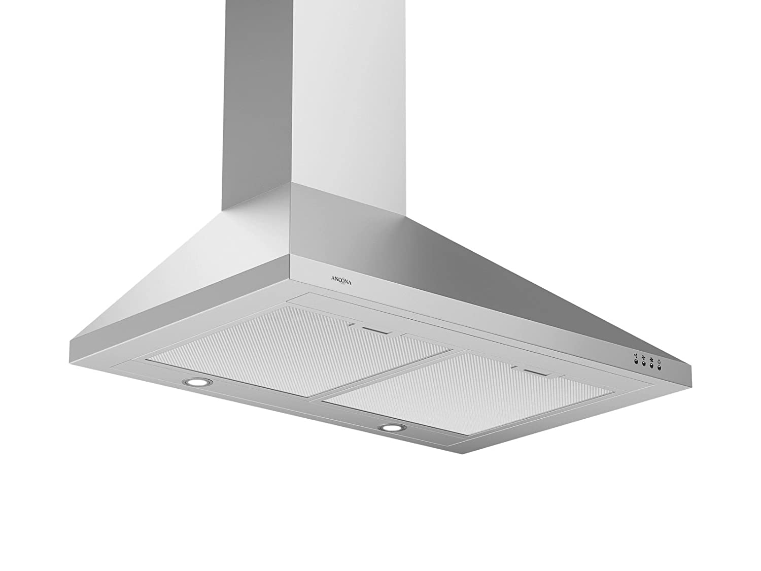 Ancona WPP430 Wall-Mounted Classic Pyramid Style Convertible Range Hood, 30-Inch, Stainless Steel