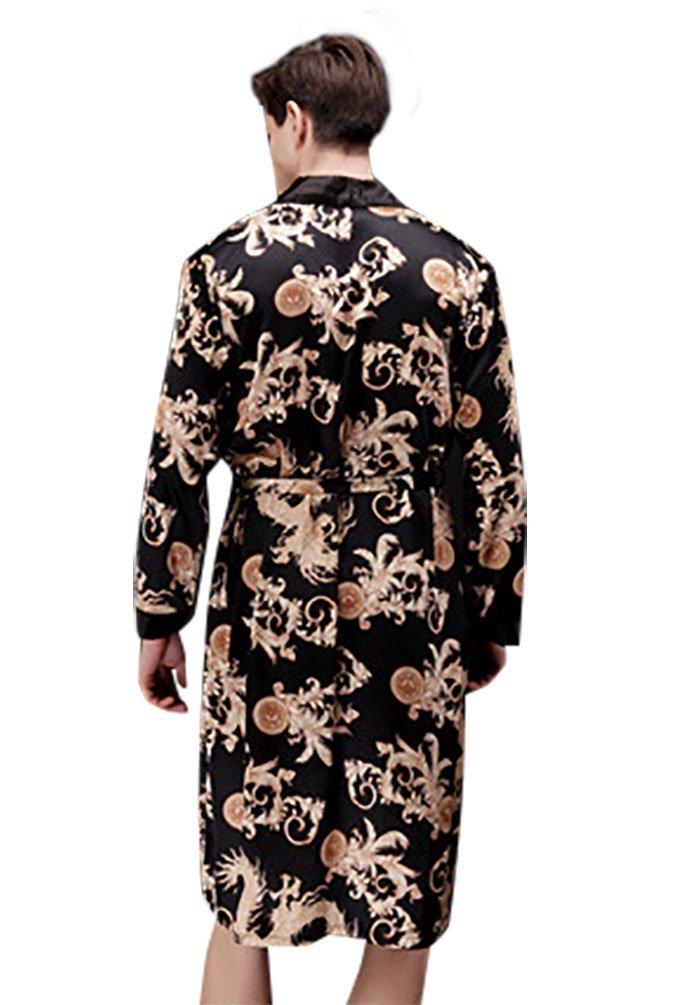 e55b92dcb43ac4 NiSeng damen und herren bademäntel seide satin schlafanzug liebhaber  nachthemd einstimmenden set: Amazon.de: Bekleidung