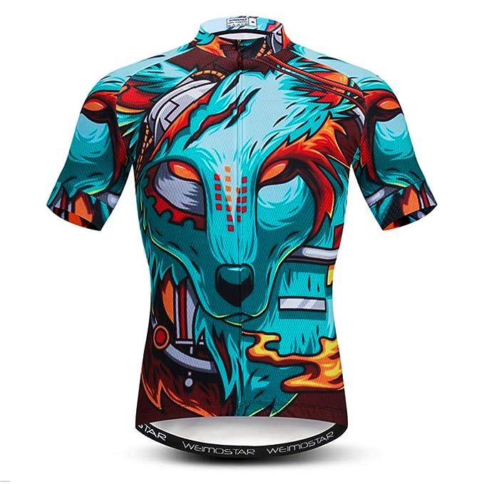 2d0a6cc45 Cycling Jersey Mens Tops Racing Cycling Clothing Short Sleeve Bike Shirt  Blue S