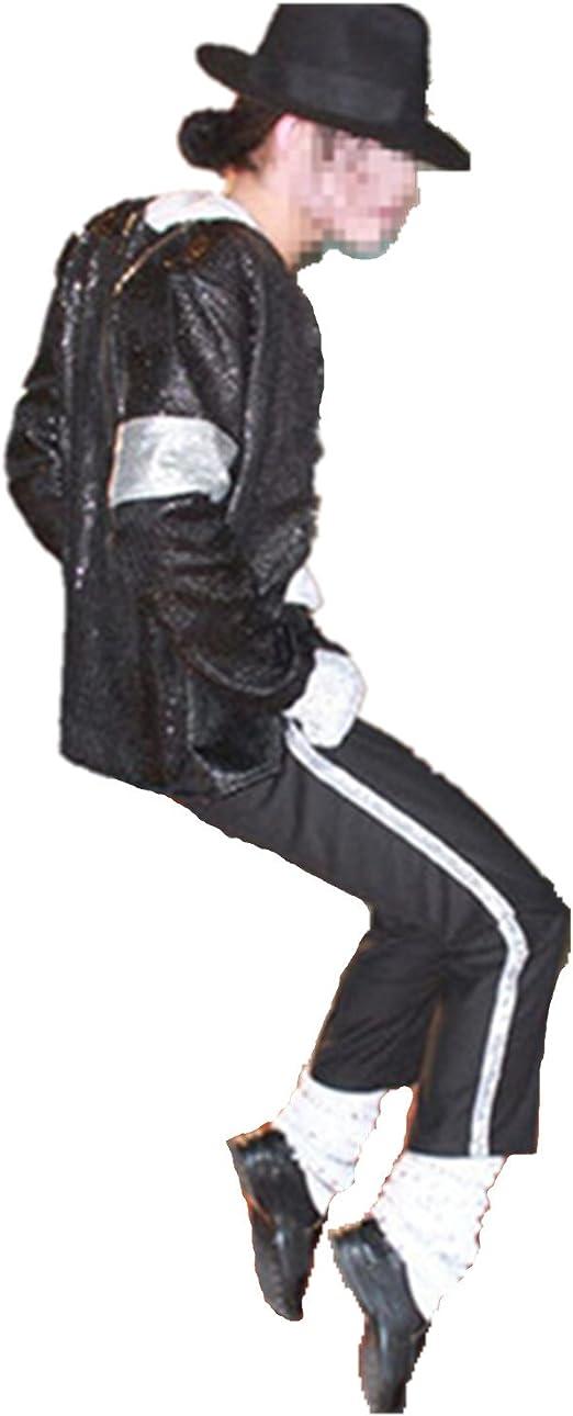 Shuanghao Disfraz de Cosplay para Hombre Michael Jackso ...