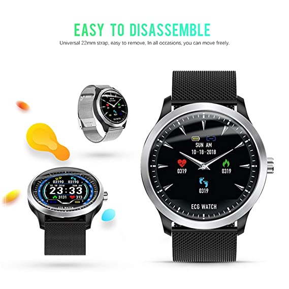 Amazon.com: Smartwatch N58 ECG PPG - Reloj inteligente con ...