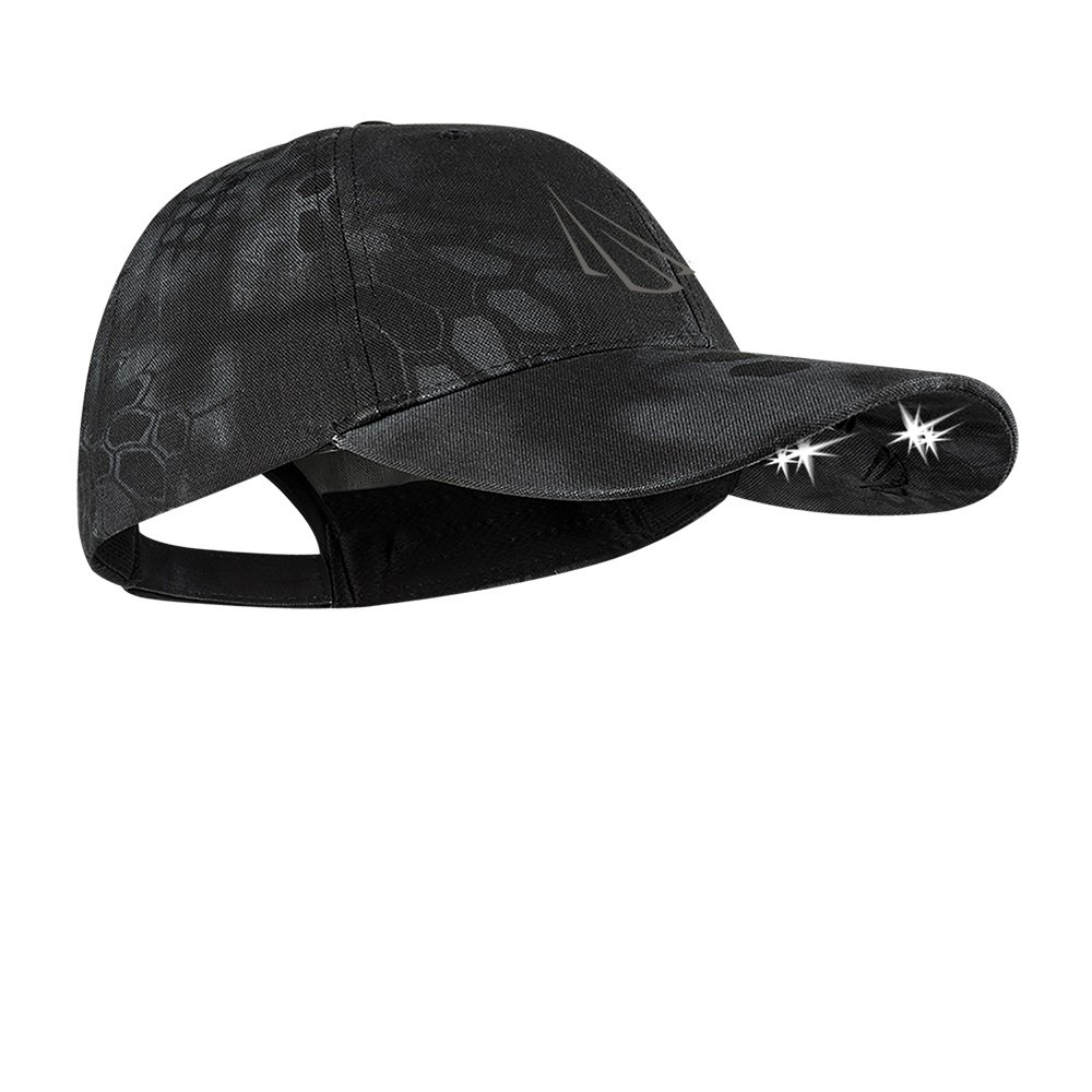 Panther Vision POWERCAP CAMO & Blaze LED Hat 25/10 Ultra-Bright Hands Free Lighted Battery Powered Headlamp - Structured