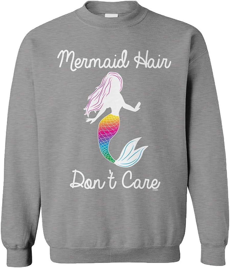Mermaid Hair Don't Care - Magic Spirit Animal Unisex Crewneck Sweatshirt