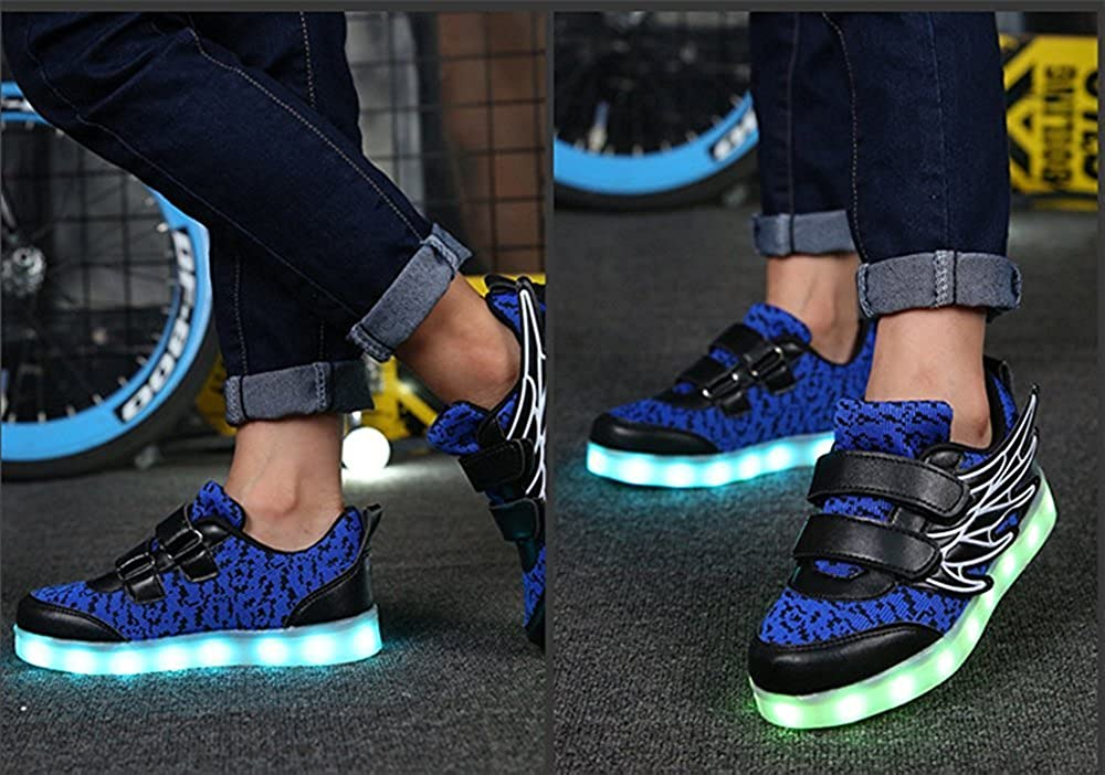 FG21ds21g Children Breathable Sneakers with Light Sport LED USB Luminous Lighted Shoes
