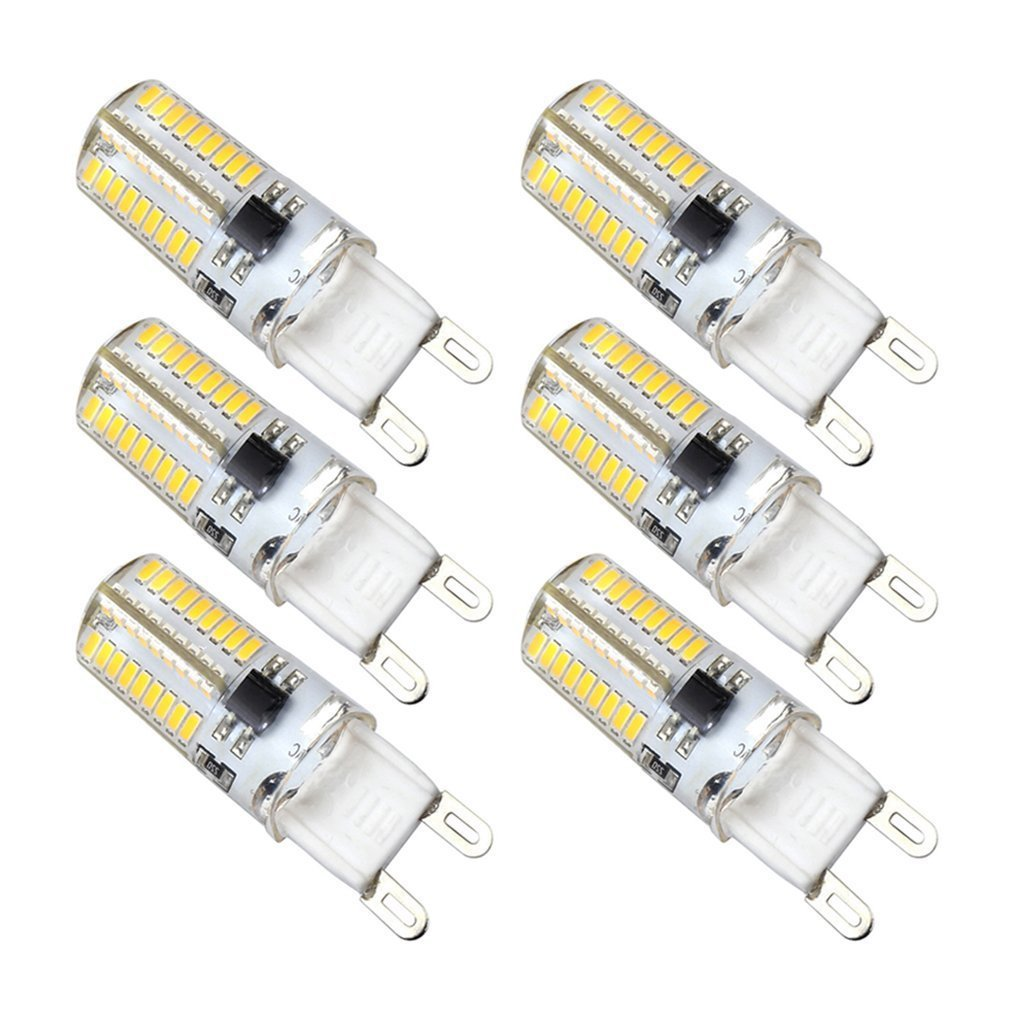 Kakanuo G9 Led Bulb Dimmable 4 Watt Replace 40w Warm White 3000k Bi This Is Not So For A Parallel Circuit Bulbs Can Continually Be Added Pin Base 72x3014smd Corn Ac 110vpack Of 6